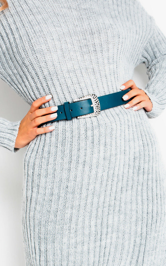 Saz Diamante Buckle Belt