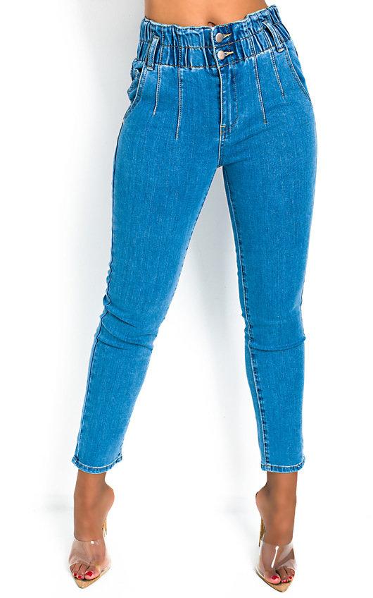 Saz Elasticated Waist Skinny Jeans