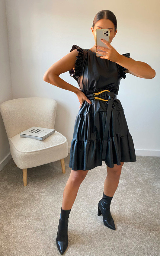 Scarlett Faux Leather Mini Dress