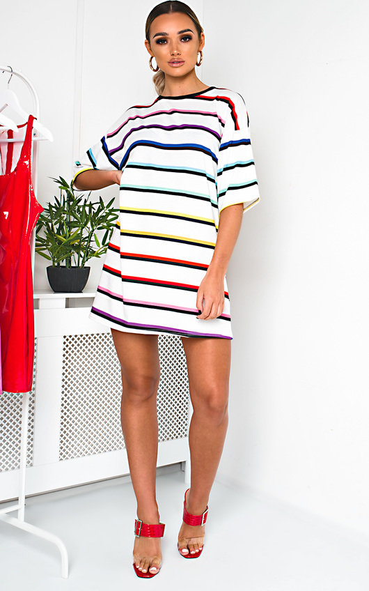 Scarlett Striped Oversized T-Shirt Dress