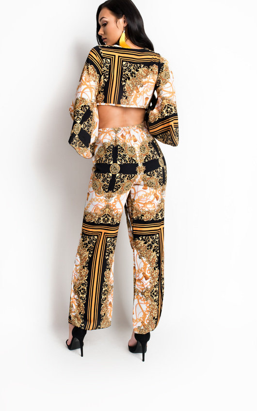 Sellis Paisley Print High Waisted Trousers