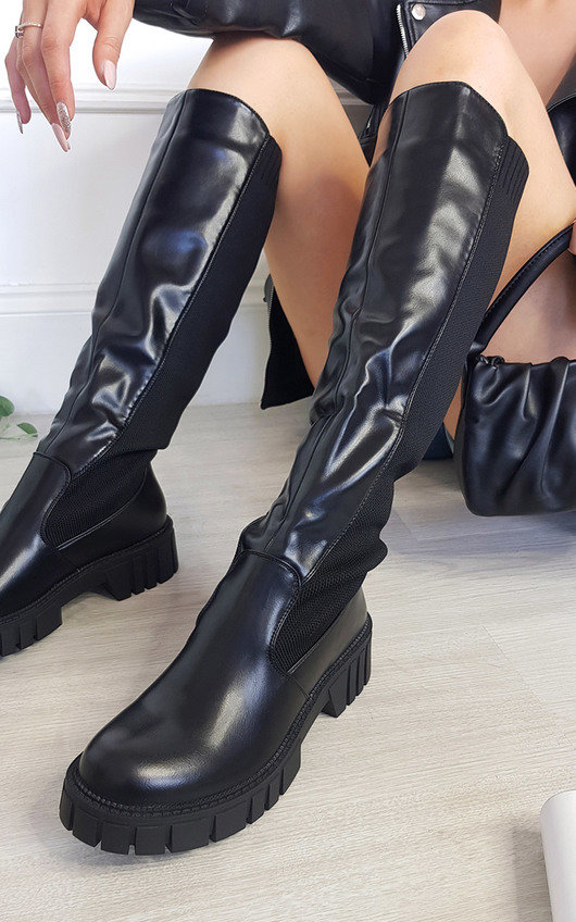 Serena Chunky Knee High Boots