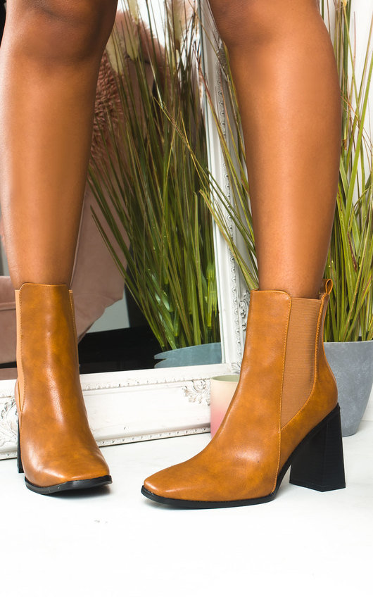 Serena Faux Leather Heeled Boots