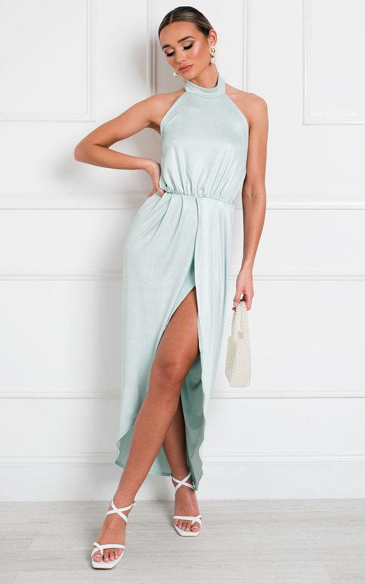 Serena Halterneck Backless Maxi Dress