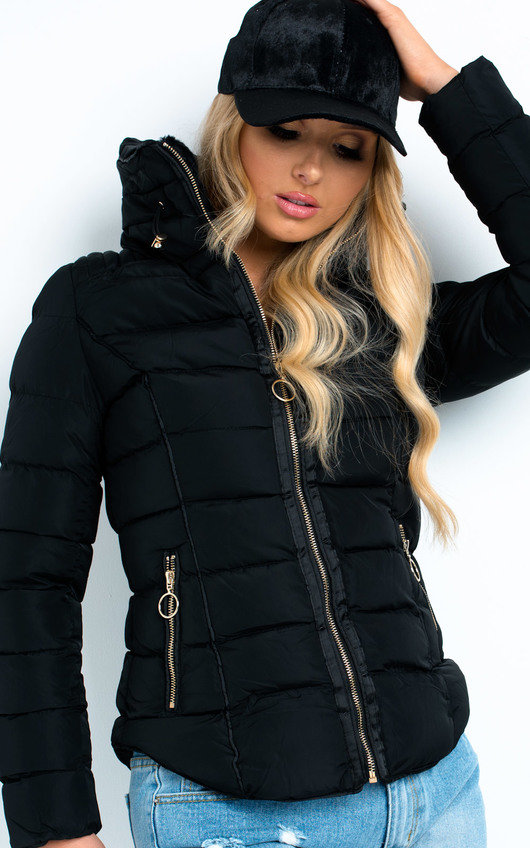 Serena Padded Faux Fur Jacket