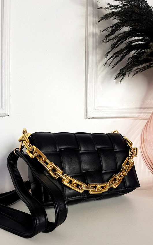 Serena Padded Shoulder Bag with Chain Detail