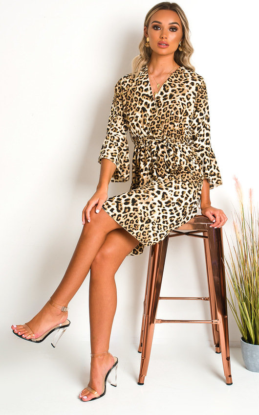 Serina Leopard Print Mini Dress