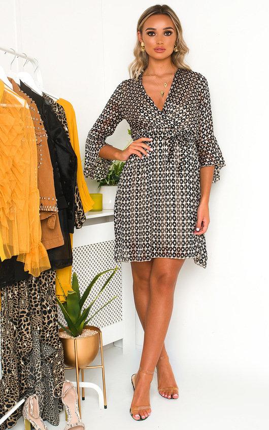 Serina Star Print Mini Dress