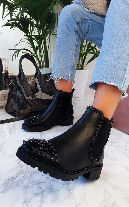 Serina Studded Ankle Boots