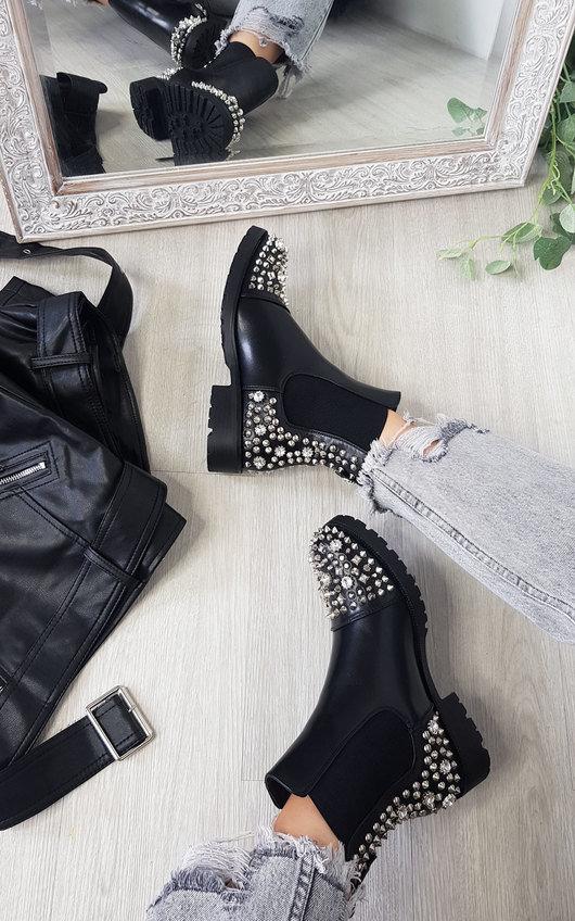 Shana Studded Ankle Boots
