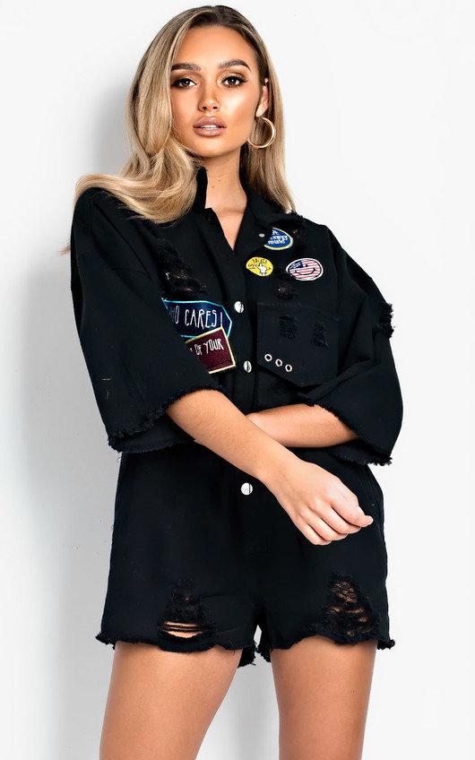 Shania Oversized Denim Playsuit