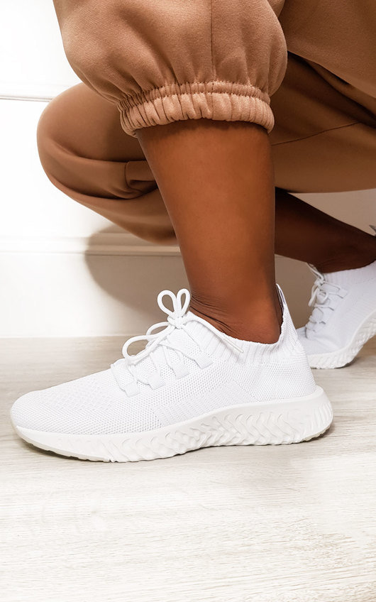 Shaughna Lace Up Mesh Sock Trainers