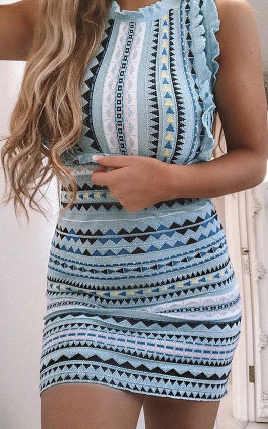 Shay Aztec Frill Dress
