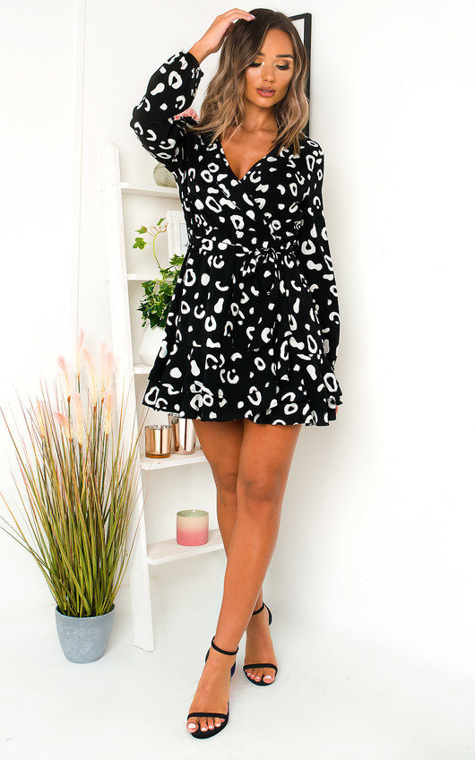 Sherri Printed Wrap Mini Dress
