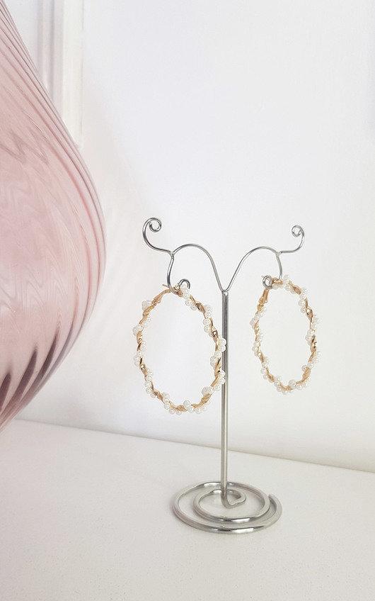 Sherrie Pearl Spiral Hoop Earrings