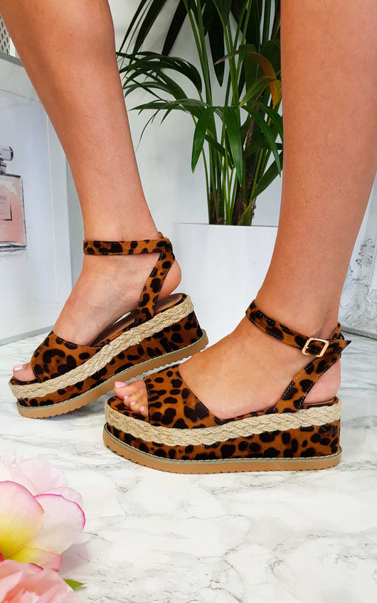 Sherry Cork Strappy Wedges