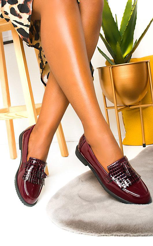Shirley Patent Tassel Brogue Sandals