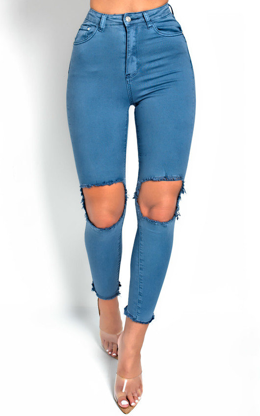 Shirly Ripped Knee Jeans