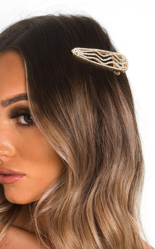 Sia Diamante Wave Oversized Hair Clip