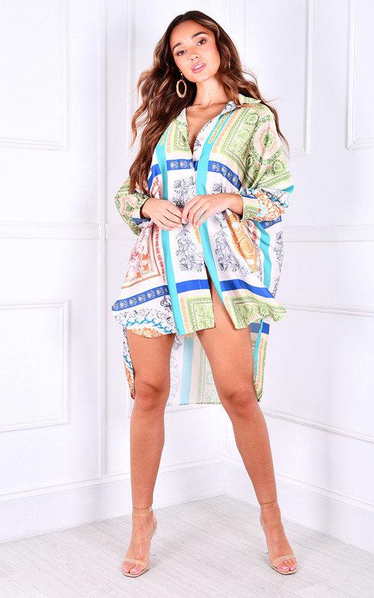 Sia Oversized Printed Shirt Dress