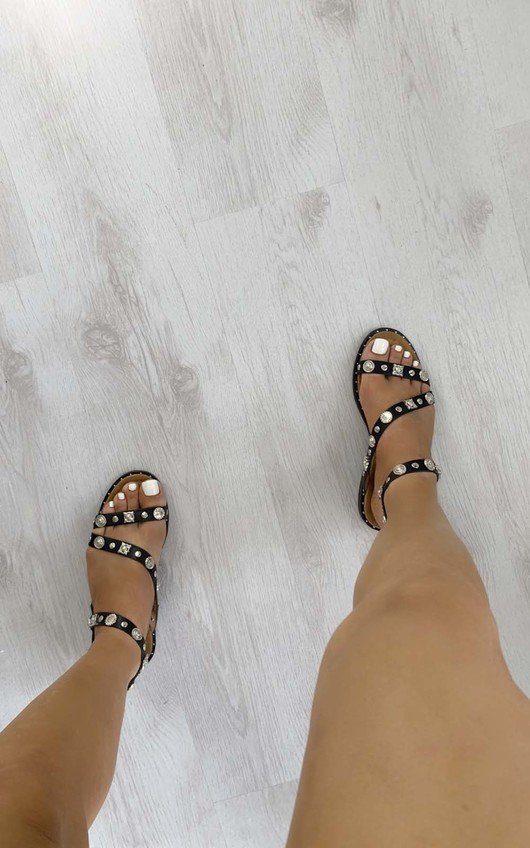 Sia Strappy Studded Sandals