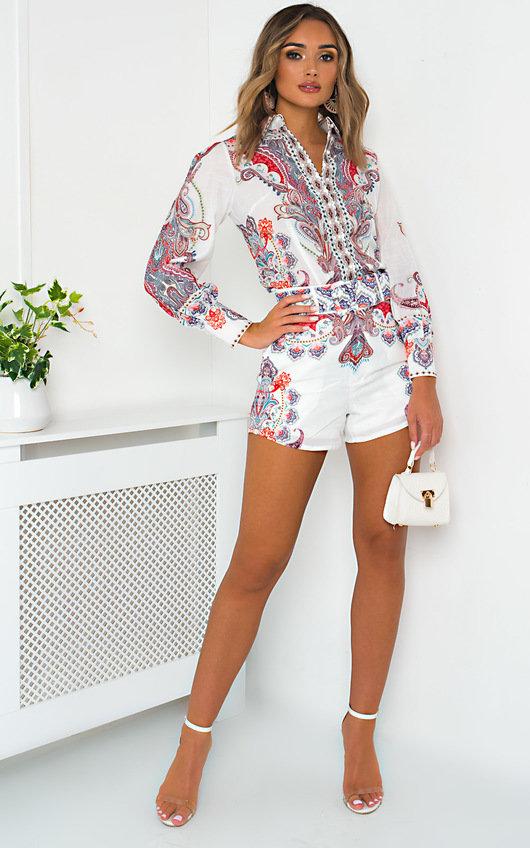 Sienna Paisley Shirt and Shorts Co-ord