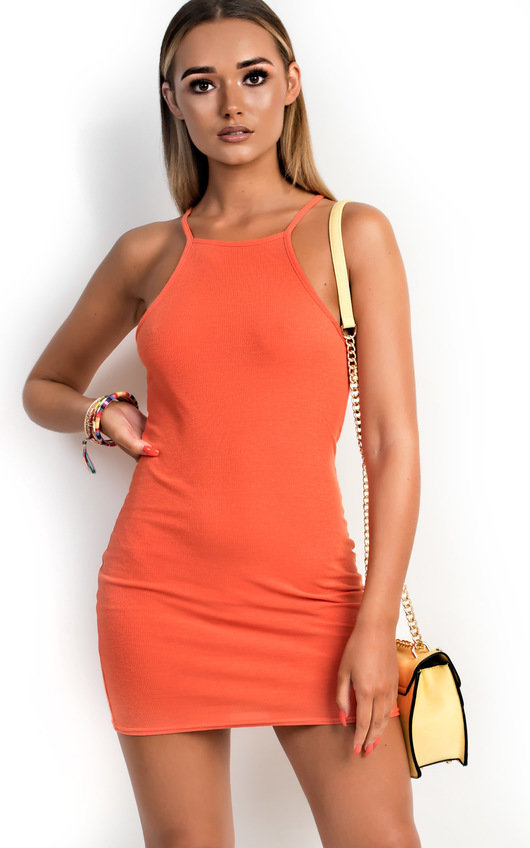 Sienna Ribbed Bodycon Dress