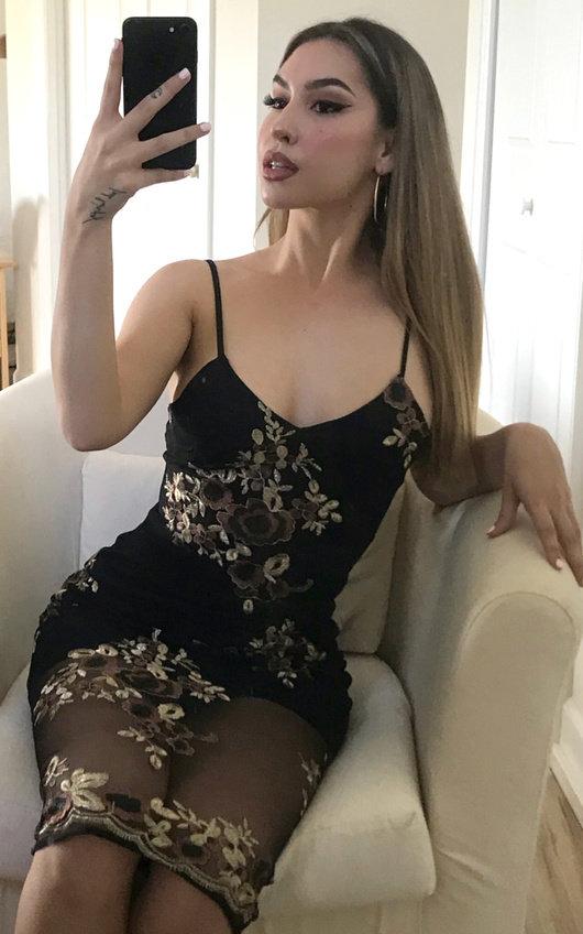 Siera Floral Midi Mesh Dress