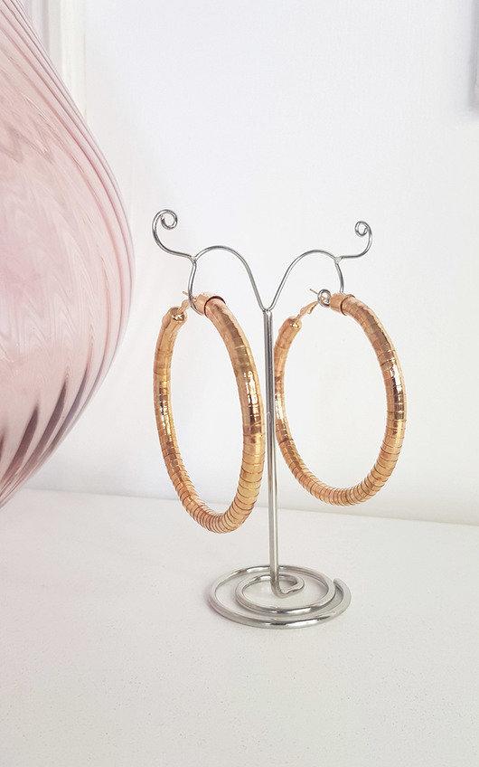 Sigrid Gold Detail Hoop Earrings