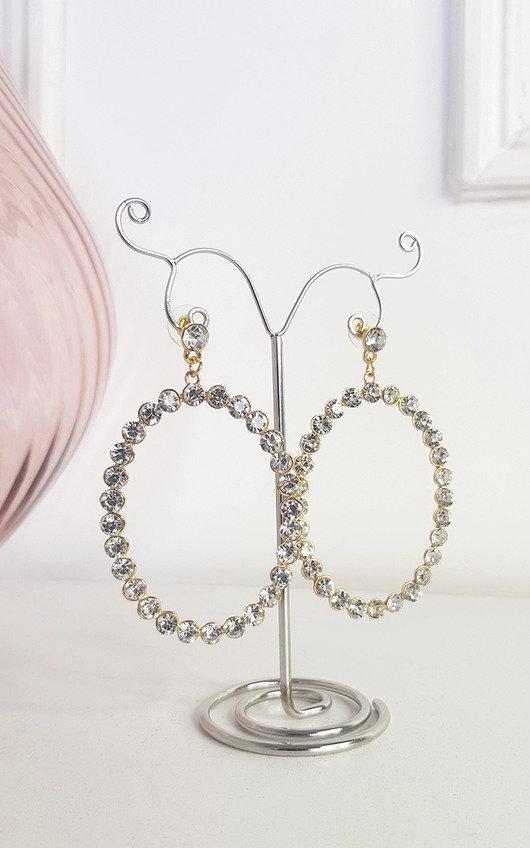Silvia Diamante Hoop Earrings
