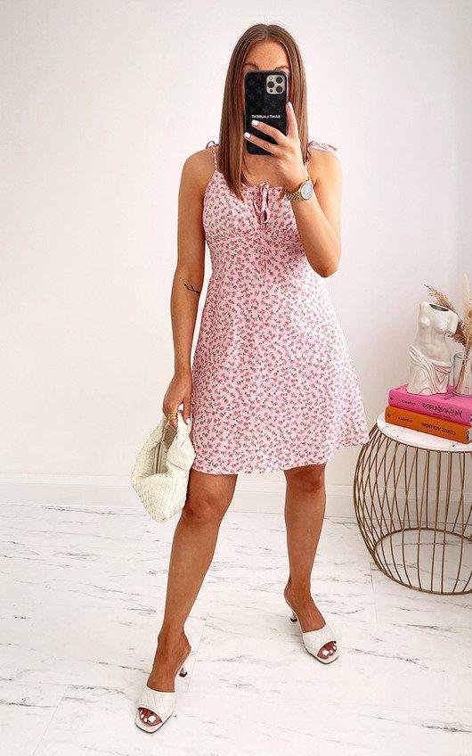 Simona Floral Strappy Mini Dress