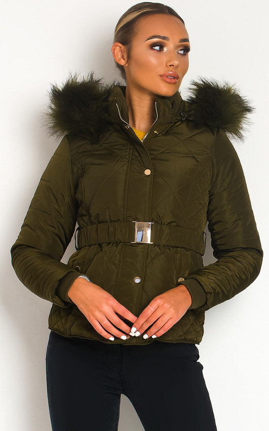 Simone Padded Faux Fur Hood Puffer Jacket