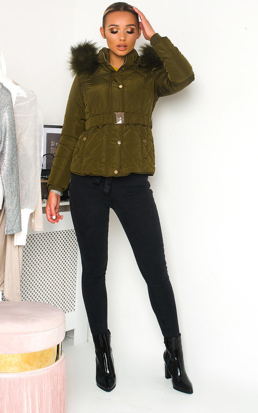 Simone Padded Faux Fur Hood Puffer Jacket