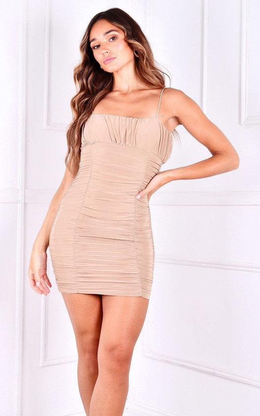 Simone Ruched Mini Dress
