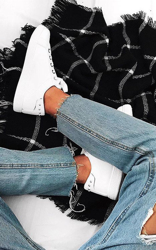 Simone Studded Stripe Trainers