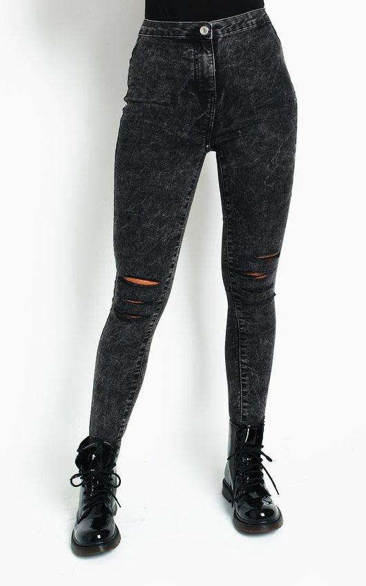 Sky Distressed Skinny Jeans