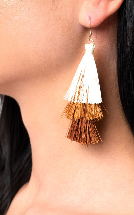 Sofiana Tassel Chandelier Earrings