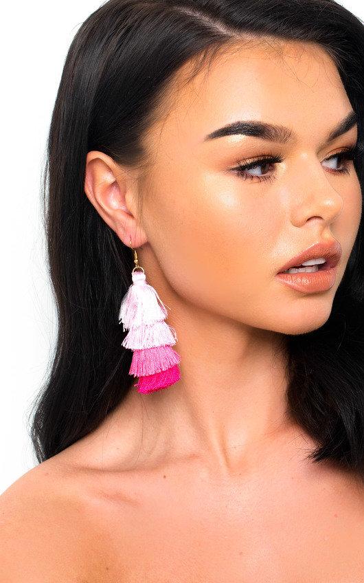 Sofiana Tassel Chandelier Earrings