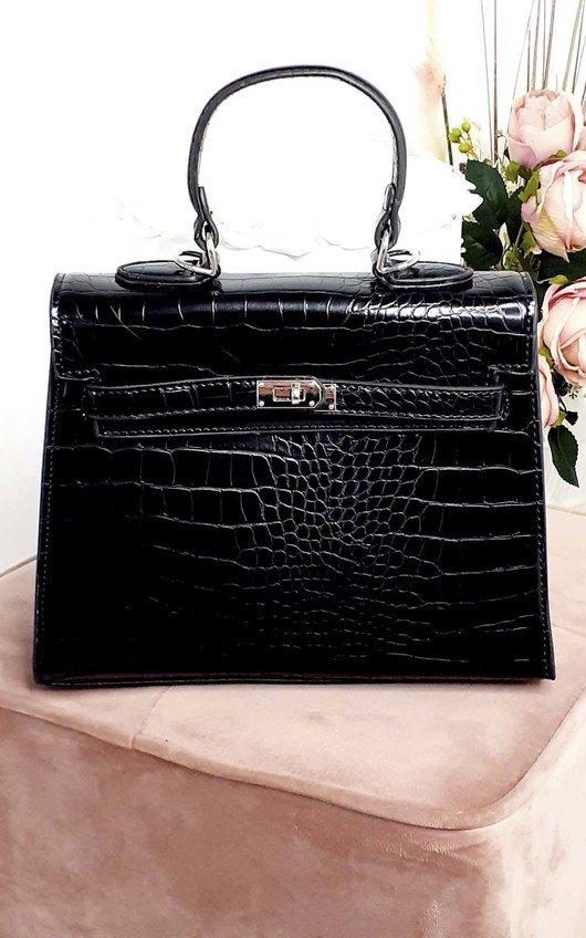 Sofie Croc Print Handbag