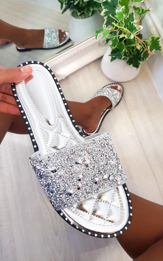 Sofie Embellished Slip On Sandals