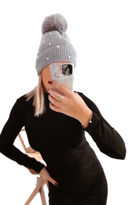 Sofie Pearl Pom Pom Hat