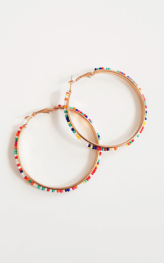 Sonia Beaded Hoop Earrings