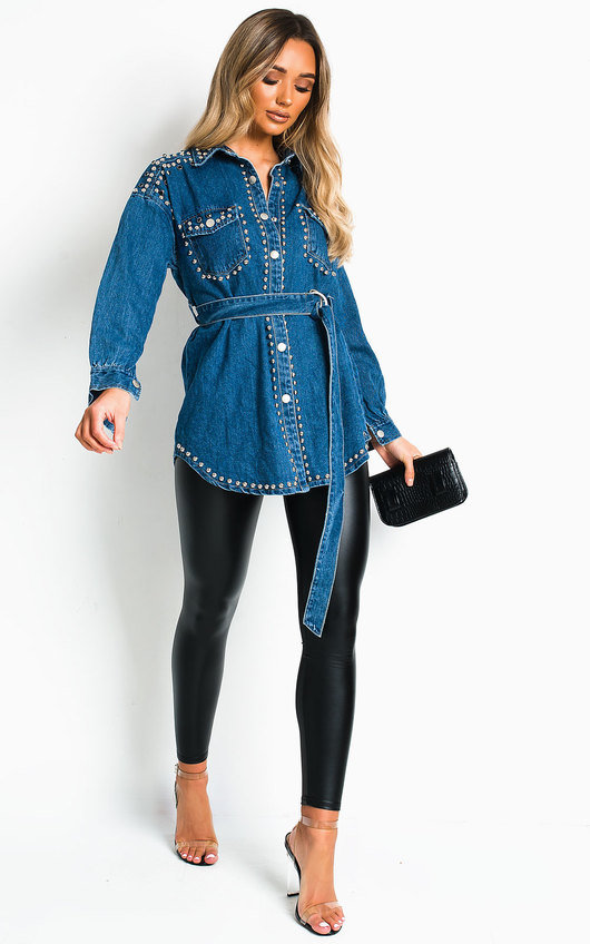 Soph Studded Embellished Denim Jacket