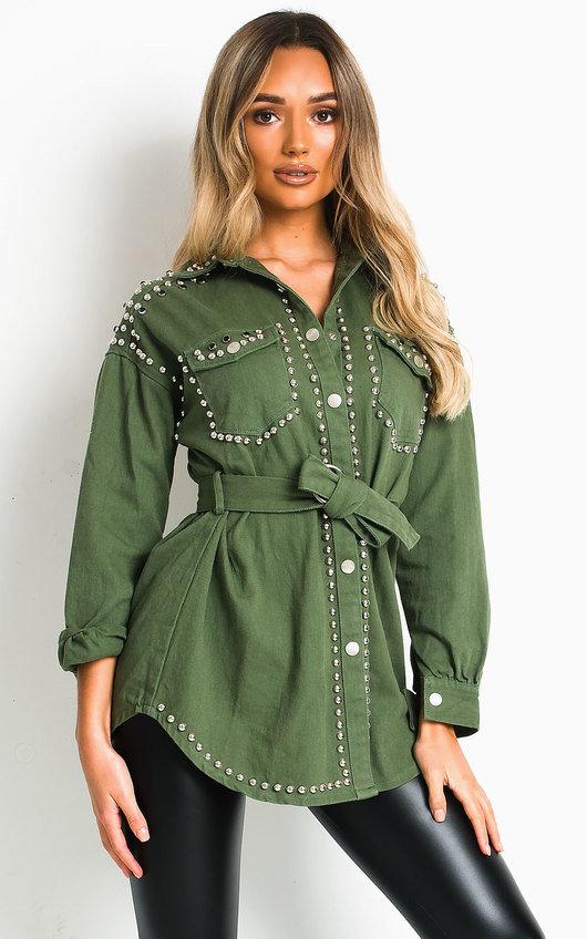 Soph Studded Embellished Denim Jacket
