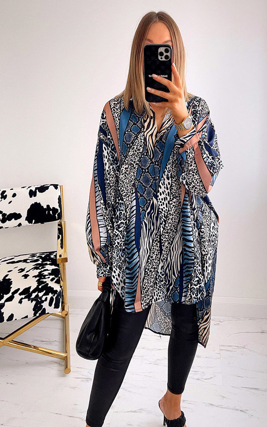 Sophie Oversized Print Blouse