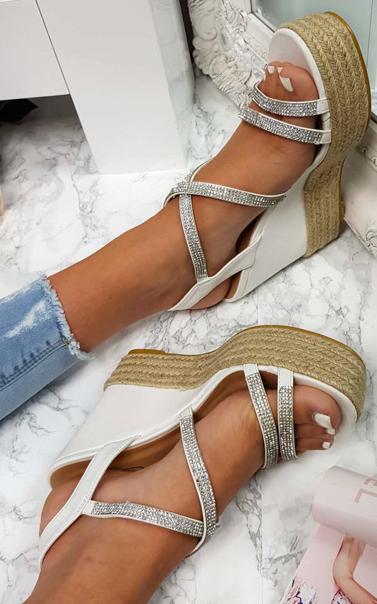 Sorsha Diamante Braided Wedged Heel