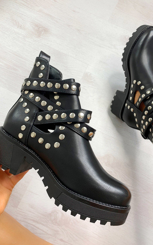 Sorsha Studded Ankle Boots