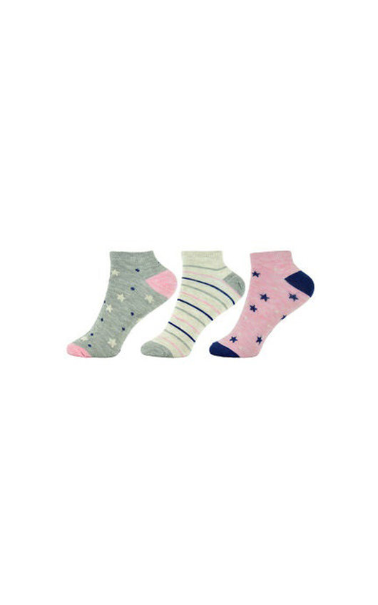 Spots and Stripes Printed Ankle Socks Multi Pack