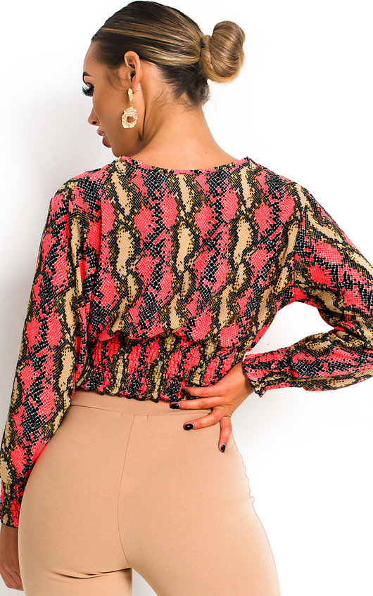 Stacey Cross Over Chiffon Blouse