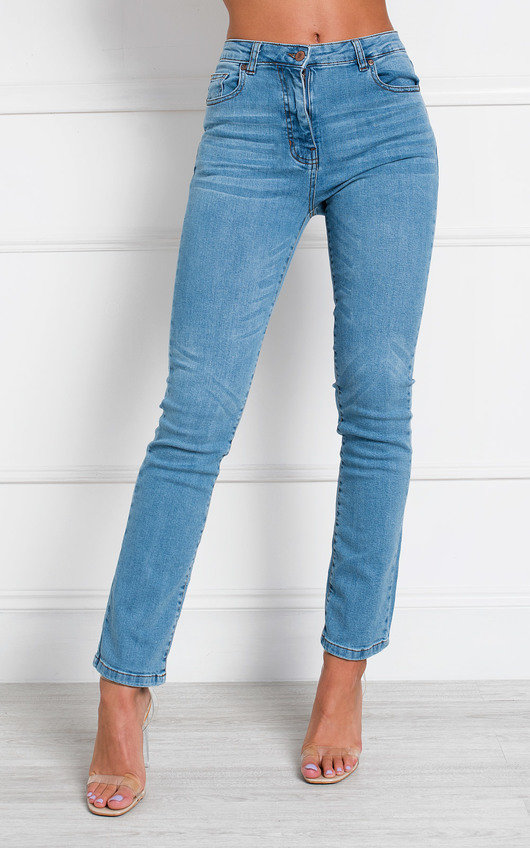 Stacey Straight Leg High Waist Jeans
